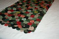 """Yo-yo quilt, bedspread, full/queen, 88"""" x 74"""", handmade colorful, excellent"""