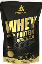 Peak Whey Protein Concentrate 1000 g 1 Kg Beutel Eiweiß Konzentrat Glutamin BCAA