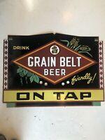 Grain Belt Beer On Tap Embossed Metal Neon Sign Skin
