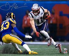 Julian Edelman New England Patriots Signed SB LIII MVP Action 16x20 Photo JSA