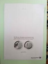 200. Geburtstag Franz Liszt 10 Euro Silbergedenkmünze stempelglanz 2011