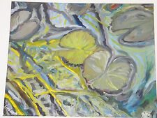 """Fine Art Oil Painting, Floral / Pond , """"WaterLily #9"""",  24"""" X 30"""""""