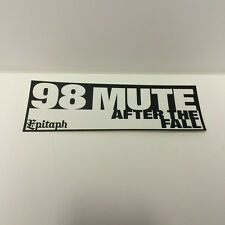 98 Mute sticker - official band merch 2002 Epitaph Records Hardcore Punk SoCal