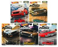 2020 Hot Wheels Fast & Furious V8 Premium Motor City Muscle Set of 5 Cars, 1/64