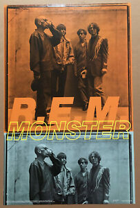 R.E.M. Rare 2004 VERY BIG 22x 34 POSTER USA MINT 4 MONSTER CD NEVER DISPLAYD rem