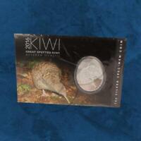 Neuseeland - Großer Fleckenkiwi - 1 $ 2016 BU Silber Kiwi