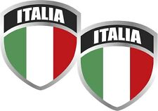"2 -3"" Italy Italian Italia ITL Flag Shield Decal SET Badge"