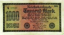 1922 Germany Weimar Republic 1000 Mark Banknote