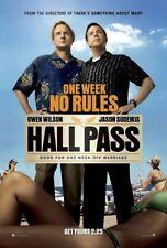 HALL PASS MOVIE POSTER 2 Sided ORIGINAL Advance 27x40 JASON SUDEIKIS OWEN WILSON