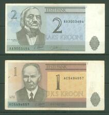 New listing Banknote B45 Estonia 1; 2 Krooni 1992