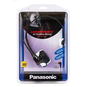 Panasonic Hands Free Headset For Cordless Phones 2.5mm Jack Black KX-TCA60 NEW