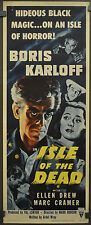 ISLE OF THE DEAD R-1953 ORIGINAL MOVIE POSTER 14X36 BORIS KARLOFF ELLEN DREW