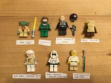 Lego Star Wars-Minifigures Collection Of 7- Yoda- Luke Farmboy-Paploo-+more