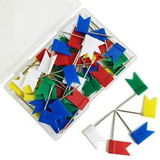 60 Pieces Multi Color Flag Travel Map Push Pins 5 Colors