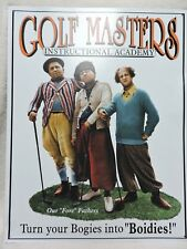 The Three Stooges Golf Masters Tin Metal Sign Man Cave