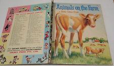 ANIMALS ON THE FARM #365 Jan Pfloog LITTLE GOLDEN BOOK 4sq 1969A chicken PIGS