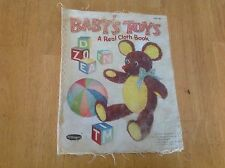 "Whitman Publishing Co ""Baby's Toys"" Vintage Cloth Book # 2261:29 1959 RARE"