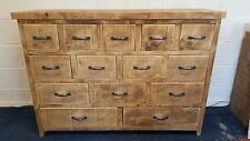 NEW SOLID WOOD RUSTIC CHUNKY APOTHECARY CHEST 14 DRAWER CHEST MADE TO ORDER