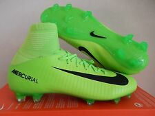 NIKE JR MERCURIAL SUPERFLY V FG ELECTRIC GREEN SZ 4Y-WOMENS SZ 5.5 [831943-303]