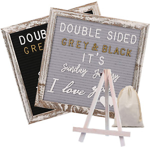 Awefrank Double Sided Felt Letter Board with 750 Pre-Cut Gold & White Letters, &