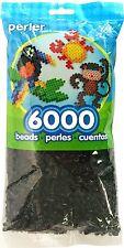Bulk Buy:6,000 Perler Black Color Iron On Fuse Beads: 80-11092