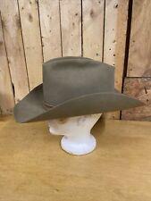 Vintage - Men's Stetson XXX 3X Beige Cowboy Hat 7 3/8 Rockabilly