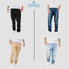 Men Cotton Jogging Elastic Pant Low Crotch Drawstring Baggy Twill HipHop Trouser