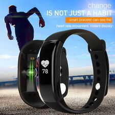 Fitness Wristband Heart Rate Tracker Silicone belt Sport Watch 0.66 Inches OLED