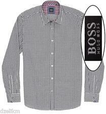 NWT Hugo Boss Black Regular Fit Gingham Cotton Sport Shirt Sz XXL