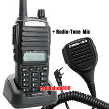 2014  UV-82 V/U 136-174/400-520MHz FM Ham Two-way Radio + Radio-Tone Mic