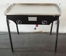 "HEAVY 32"" x 17"" Wide Stainless Steel Flat Top Griddle Grill Double Burner Stove"