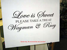 Custom Love Is Sweet Wedding Lolly Candy Bar Sign Wall Frame Vinyl Decal Sticker