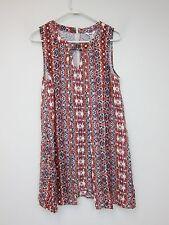 Jack by BB Dakota Artis Keyhole Dress - Womens Medium - Multi - NWT