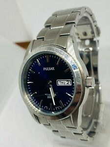 Pulsar Gents Kinetic Blue Dial Watch YT58-X008 Stainless Steel SPARE/REPAIR