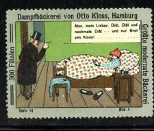 Germany EXPO Poster Stamp Otto Kloss Man in Bed & Doctor