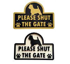 Westie - Please Shut The Gate - 3D Dog Plaque - House Garden Door Wall Sign
