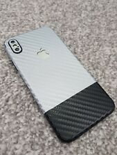 iPhone Silver & Black Full Body 360 Vinyl Skin Sticker Skin Wrap Cover Case