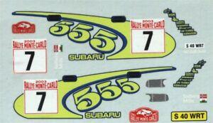 Subaru Impreza WRC - Rally Monte Carlo 2003 - Petter Solberg - Decal