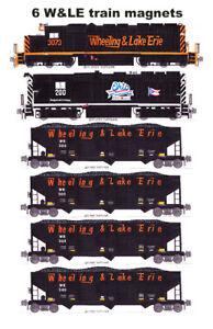 Wheeling & Lake Erie Coal Train 6 magnets Andy Fletcher