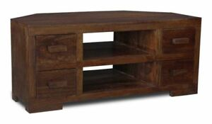 LIVING ROOM FURNITURE SOLID MANGO CORNER TV UNIT (H13D)