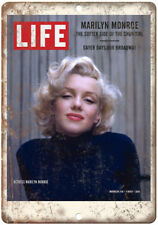 "LIFE Magazine Marilyn Monroe Cover 1953  10"" x 7"" Reproduction Metal Sign C99"