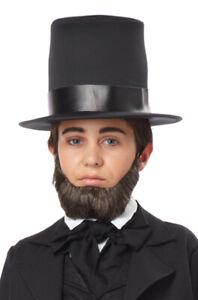 Child Honest Abe Abraham Lincoln Beard (Dark Brown)