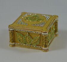 Wendy Reed 'Joan' Leaf Crystal Goldtone Trinket Box