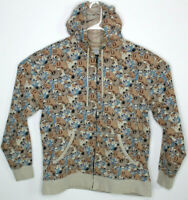 The Used All Over Graphic Zip-up Hoodie Emo Punk Skater Size XL