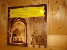 Schubert Deutsche Messe REGENSBURGER DOMSPATZEN BOYS CHOIR DGG LP TULIP MINT