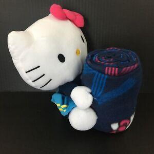 Super Bowl XLVIII New York New Jersey Hello Kitty Pillow & Throw Blanket NWT