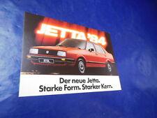 VW Jetta 2  19e 83 1983 Postkarte ungelaufen Werbung Reklame Prospekt Katalog