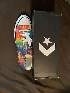 Converse Chuck Taylor All Star Classic Tie Dye Rainbow Low Top Sneakers Men 12