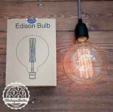 Vintage X/L Globe light bulb edison style filament retro antique 40w B22 G125