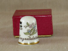 Vintage Caverswall Thimble Baby Congratulations with Box EXC